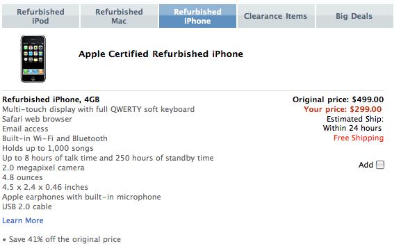 Apple Re-stocks Refurbished iPhone