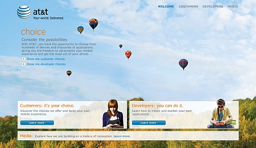AT&T Launches New Choice Website