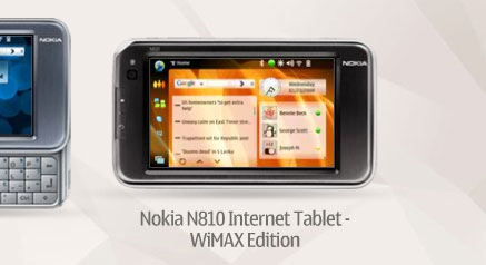 Nokia N810 with WiMAX Possibly Launching on April 1st