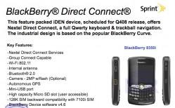 BlackBerry 8350i to Refresh Nextel iDEN Offering