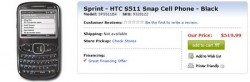 Sprint HTC Snap Listed by Best Buy Online