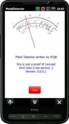 Metal Detector App for HTC HD2 As Proof of Alternate Use for Built-In Compass