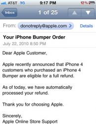 Apple Sending Automatic Refund Notices for iPhone 4 Bumper Case Purchases