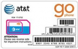 Amazon Lists AT&T GoPhone Branded microSIM