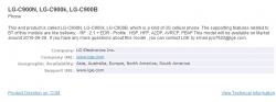 Bluetooth SIG Reveals LG C900 Release Timeframe