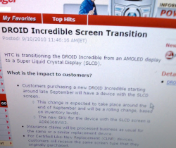 HTC DROID Incredible Being Transitioned to SLCD Late This Month