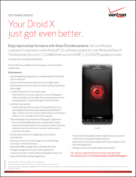 Verizon Staging Droid X Android 2.2 Update Tomorrow at Noon (Updated)