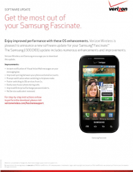 Verizon Rolling Out Samsung Fascinate Update