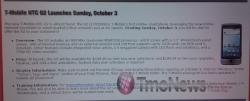 Radio Shack Launching T-Mobile G2 on Sunday October 3rd