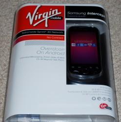 Unboxing: Samsung Intercept for Virgin Mobile