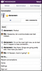 Yahoo! Adds SMS Messaging to Mobile Messenger Portal