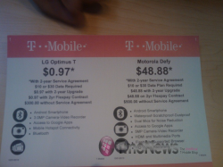 Wal-Mart Offering Discounts on Optimus T and Motorola Defy