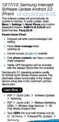 Sprint to Roll Out Android Froyo on Samsung Intercept Today? (Updated)