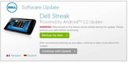 Dell Rolling Out Streak 5 Froyo Update for AT&T
