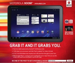 Motorola Xoom To Launch Without Flash, Support in Spring Update