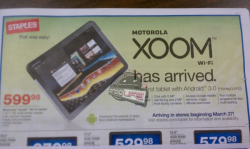 Staples to Launch Motorola Xoom Wi-Fi on March 27th
