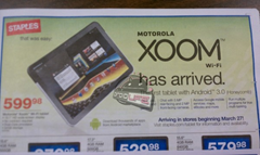 Motorola Xoom Wi-Fi Staples