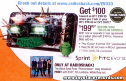 Radio Shack Offering $100 Savings On Unreleased EVO 3D with Trade-in