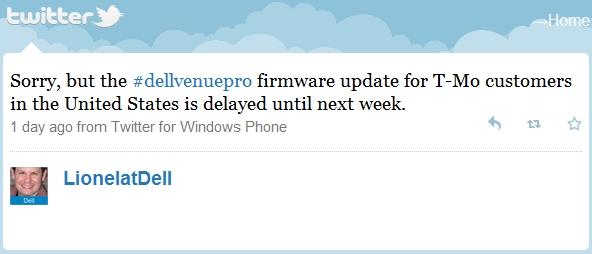 New Dell Venue Pro Update