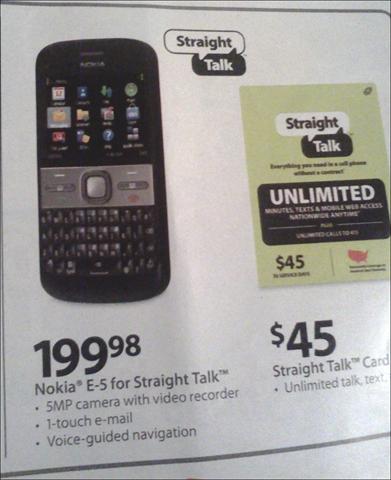 Walmart Nokia E5