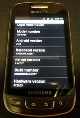 MetroPCS Samsung Admire 3