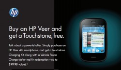HP Offering Free Touchstone and Car Charger with Veer 4G Purchase to Select Customers