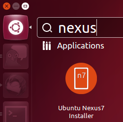 Installing Ubuntu for Nexus 7 is a one-stop affair.