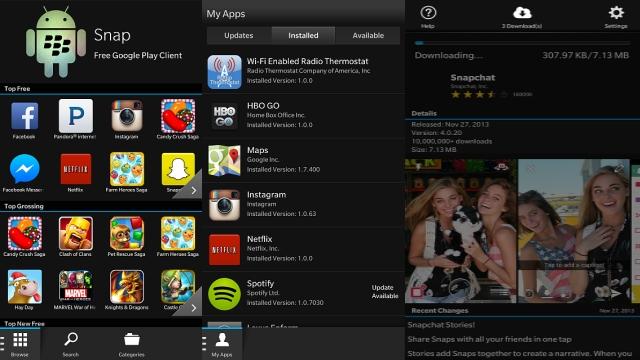 BlackBerry Snap Google Play