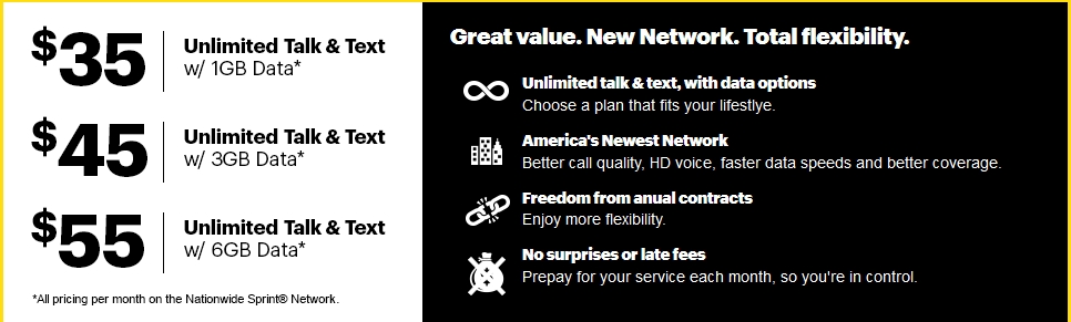 New Sprint Prepaid plans
