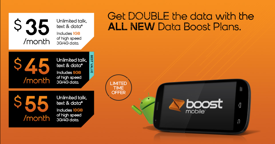 Boost Mobile databoost promo