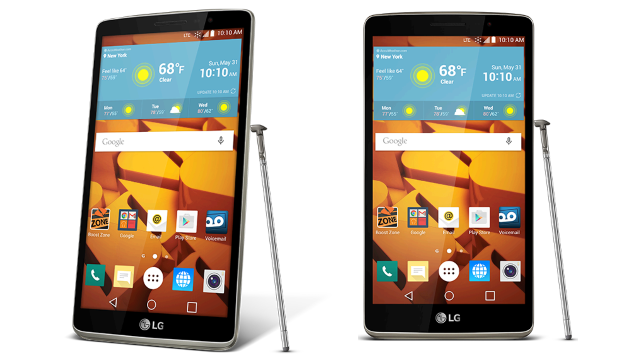 Boost Mobile LG G Stylo wide